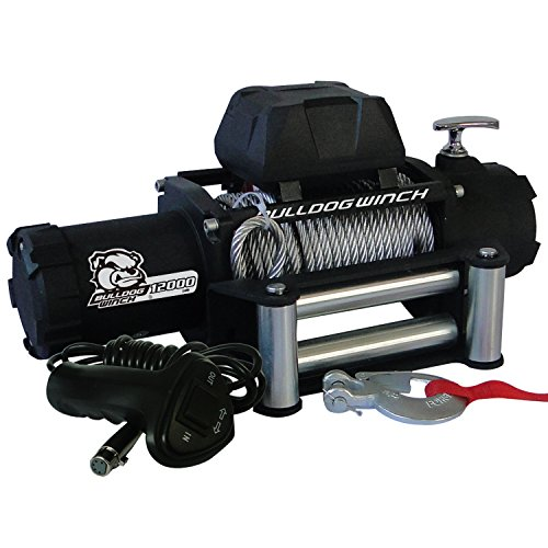 Bulldog Winch 10043 Standard Winch (12000lbwith 6.0hp Series Wound Motor, Roller Fairlead, 100 Ft. Wire Rope), 1 Pack
