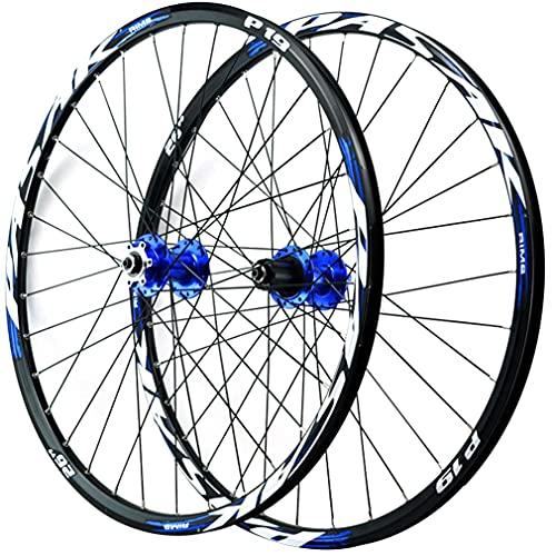 MZPWJD Ruedas 26/27.5/29 Pulgadas MTB Llanta Bicicleta Montaña Freno De Disco Ruedas Juego Liberación Rápida Rueda 32H Buje 7/8/9/10/11/12 Velocidad Cassette 2035g (Color : Blue a, Size : 27.5'')