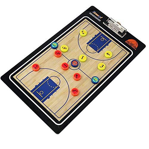 Tactikboards draagbaar PVC basketbal coaching board traint basketbal tactiek breden professionele klem plank droog blussen met markering Bredt-tactik geschikt voor trainers van educatief gebruik