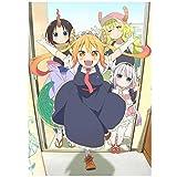 Kobayashi-san Chi no Maid Dragon Japón Anime póster de película lienzo arte Anime dibujos animados decoración del hogar manualidades-50x70 cm Sin marco