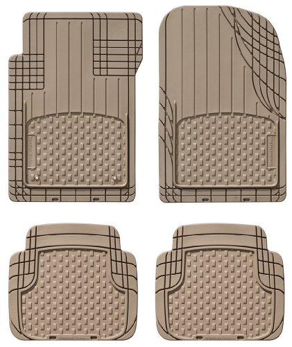 WeatherTech Universal Trim to Fit All Weather Floor Mats for Car, SUV, Automotive Vehicle - 4-Piece Set Tan