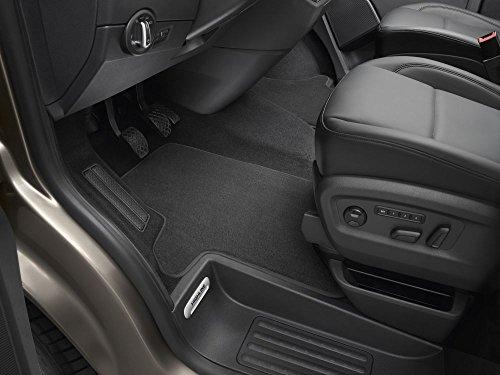 Alfombrillas de terciopelo original VW Premium 2 piezas Frontal T5 T6 Transporter Multivan California Caravelle. Perno de presión. Tela textil 7E1061275AWGK