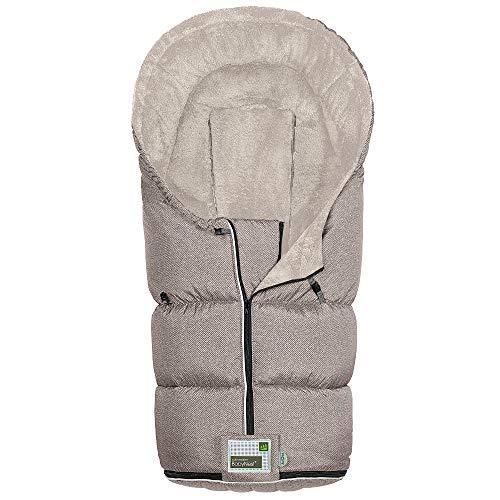 Odenwälder BabyNest Fußsack Lo-Go fashion | 12384-1081 | passend für alle Kinderwagen und Buggy | new woven coffee