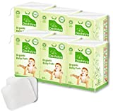 Destalya Organic Baby Cotton Pads - Natural Disposable Cleansing Wipes for Sensitive Skin - Washcloths for Diaper Change Baby Care (Organic Cotton Pads 360 count)