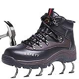 SUADEEX Mujer Hombre Zapatillas de Seguridad Botas con Puntera de Acero Impermeables Zapatos de Trabajo Entrenador Unisex...