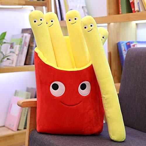 MIAOOWA Official Store Neue Cartoon Plüsch Burger EIS Französisch Fries Spielzeug Gefüllt Mit Essen Popcorn Kuchen Kissenkissen Pad Für Kinder Spielzeug Home Decoration 40 cm Pommes Frites