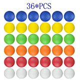 Dsmile Colorful Foam Golf Practice Balls 36 Pack Light Soft Elastic Training Multifunction Sport Balls