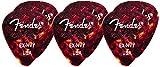 Fender Wavelength Tortoise Shell Guitar Picks (6) - 351 Shape - Extra Heavy