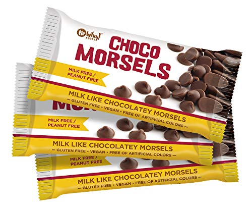 No Whey Foods - Milkless Vegan Chocolate Morsels (3 Pack) - Gluten Free, Nut Free, Milk Free, Soy Free
