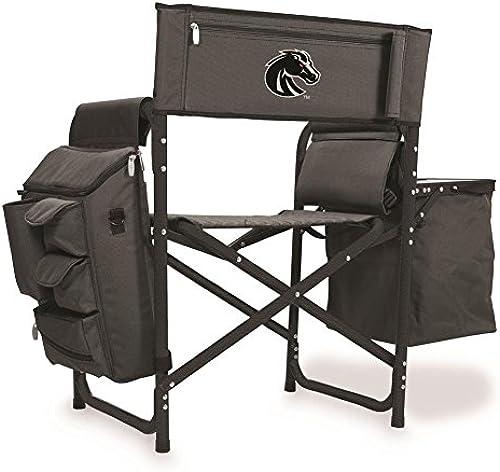 Picknick Zeit Fusion Chair-dk grau Schwarz(Boise State, Broncos) Digital Bedruckt, dunkelgrau Schwarz One Größe