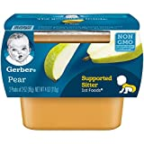 Gerber Purees 1st Foods Pear Baby Food Tubs, 2 Ounce (8 twin pack )