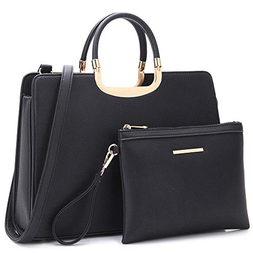 """MATERIALS: Vegan (PU) pebbled textured leather with gold-tone hardware POCKETS: 1 internal zipper pocket, 2 internal slip pockets, 1 center zipper pocket, multi pockets to keep your daily essentials conveniently in check SIZES: 14.5""""W x 11""""H x 4""""D, h..."""