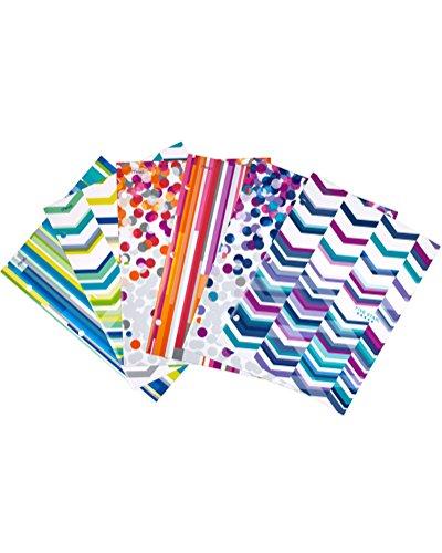 Five Star Style 4-Pocket Paper Folder, Assorted Designs, 6 Pack (73077)