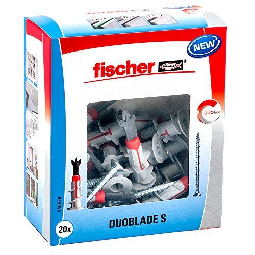 fischer DUOBLADE S, selbstbohrender Gipskartondübel mit Spanplattenschraube, starker Dübel für...
