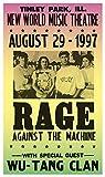"rage against the machine framed - Per Diem Printing Rage Against The Machine - New World Music Theatre - 13""x22"" Vintage Style Showprint Poster - Home Nostalgia Decor – Wall Art Print - Concert Bill"