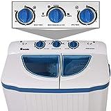 TecTake® 4,5 kg Mini Waschmaschine Miniwaschmaschine + 3,5 kg Wäscheschleuder Kombination - 4