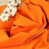 Denim-Jersey, uni orange, elastisch und formstabil, als