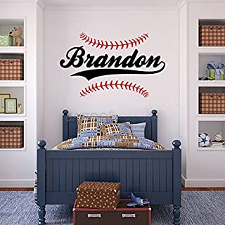BATTOO Personalized Name Baseball Wall Decal 30