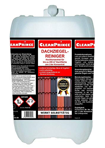 5 Liter Dachziegel-Reiniger selbsttätig Dachziegelreiniger Kanister Reinigungsmittel Ziegelreiniger Reinigungsmittel Grünbelag Entferner Betonziegel lasierte Ziegeln Lasurziegeln