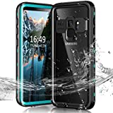 Janazan Samsung Galaxy S9+ Plus Waterproof Case, IP68 Full Sealed Underwater Protective Cover, Waterproof Shockproof Snowproof Dirtproof with Built-in Screen Protector 6.2 inch 2018 (Blue)