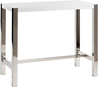 Moe's Home Collection 47 by 23 by 41-Inch Riva Bar Table, White