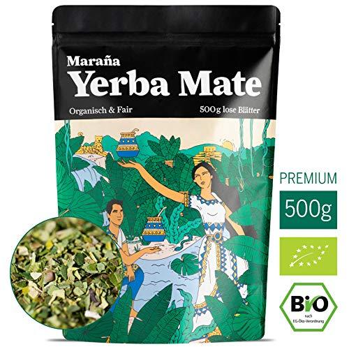 Maraña® Yerba Mate Tee Bio Grün ● 500g lose Matetee-Blätter ● Premium-Qualität ● No.1 Energy Drink Südamerika ● Koffein