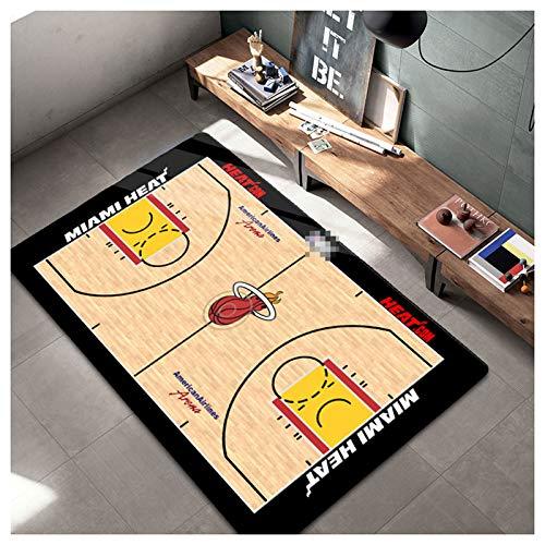 ZHMIAO Alfombra de Baloncesto de Calor Alfombra, Alfombra Alfombras Alfombras para Dormitorios Sala de Estar Kids Habitaciones Decoración Anterior Mat red-60x90cm