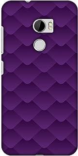 AMZER Slim Designer Snap On Hard Shell Case Back Cover for HTC One X10 - Carbon Fiber Redux Electric Violet 1