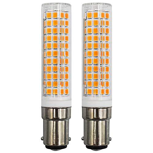Lampadine LED BA15D 7 W 100 W alogene equivalente sostituisce JCD tipo T3/T4 B15 doppia connessione a baionetta 220 V bianco caldo 3000 K, confezione da 2