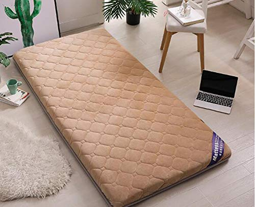JINDSMART Mattress Pads Protector,Floor Mattress,Thick Not-slip Single Double Student Dormitory Japanese Futon Mattress