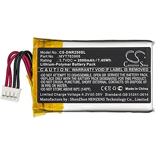 Replacement Battery for Delorme AG-008727-201 INCRH20 INRCH25 InReach Explorer inReach SE Q639603N T7V1315,fits Part No MYT783968, 3.7V 2000mAh / 7.40Wh Li-Polymer