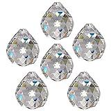 6x Regenbogenkristall Kugel Ø 30mm Crystal 30% PbO ~ Kronleuchter Lüster Feng Shui