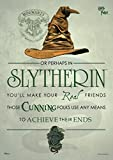 MightyPrint Harry Potter - Sorting Hat Slytherin Wall Art Decor - Next Generation Premium Print - Featuring Hogwarts House Quote Poem
