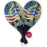 Vero Frescobol Fiberglass Beach Paddleball Paddle set Brazil USA Model, Official Ball, Bag