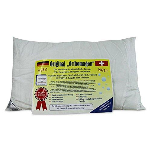 Stolz Vacuum Kopfkissen Original Orthomagon Grösse: 74 x 43cm, antiallergisch, antibakteriell, ultraleicht, milben- und allergiendichtes Gewebe.
