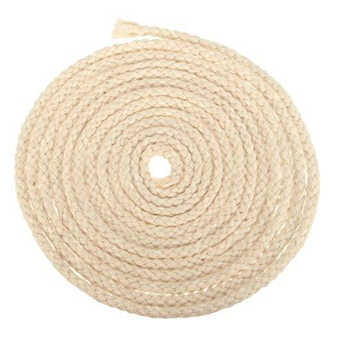 GHJKBJ Aceite de keroseno lámpara de Alcohol 3 m de Longitud 6 mm de diámetro Redondo de algodón Mecha del Quemador