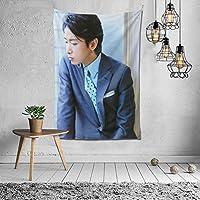 2021 Arashi 嵐 大野智(おおのさとし) タペストリー ファッションの絶妙な印刷リビングルームの入り口寝室の背景壁の装飾カスタマイズされた壁掛け布 (152*102cm)