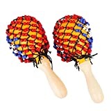 Musica Sonagli Shaker, bambini di legno Maracas martello della sabbia del giocattolo di fo...