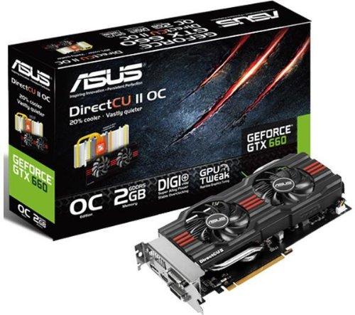 ASUS GeForce GTX 660 DirectCU II OC 2 GB GDDR5 PCI Express 3.0 GTX660 DC2O 2GD5 (Graphics cards - 90YV0392-M0NA00 & 4716659293521)