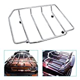 DSISIMO Chrome MotorcyclesTrunk Luggage Rack Rail Carrier Trunk Top Rail Luggage Rack Fit For Touring Road King Street Glide Road Glide Electra Glide Tour pak Pack 1984-2020
