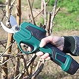 1yess Astschere, elektrische Gartenschere, 7,2V Akku-Pruner 25MM Schneiden Dia, Overloading proction LED-Taschenlampe