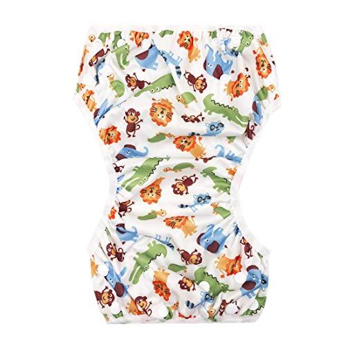 Pers Lavable bébé Unisexe réglable Nager Couche-Culotte Piscine Pantalon imperméable réutilisable bébé Formation Natation Couche-Culotte Maillot de Bain-Mixte Multicolore