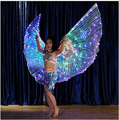 PGKCCNT Kids Belly Dance Wings DIRIGIÓ Alas alas de Mariposa con Bolsa de Almacenamiento portátil Ropa de Rendimiento para Carnaval, Etapa, Fiesta de Navidad de Halloween