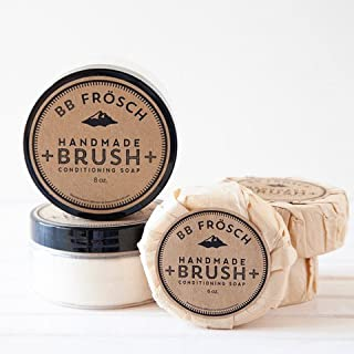 BB Fr�sch Multi-purpose All-natural Handmade Brush Conditioning Soap (8 oz). Great for Chalk Paint Brushes, Make-up Brushes, Paint Brushes! Gentle on skin!