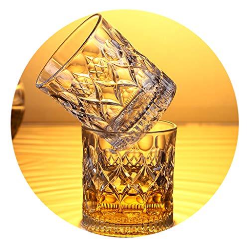 Vaso De Cristal para El Hogar Vaso De Whisky Set De Vasos De Cerveza De Bar Copa De Vino Tinto Neta Vidrio Grueso Sin Plomo Adecuado para Bar En Casa (Color : Clear, Size : 280mL*2)