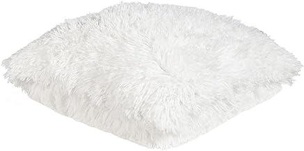 Deko Kissen Zottel Flausch Bodrum weiß 45x45cm