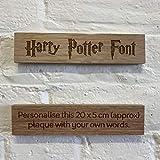 CutnCraft Designs Personalised wooden plaque/sign bespoke childs bedroom door/custom text - Harry Potter Font