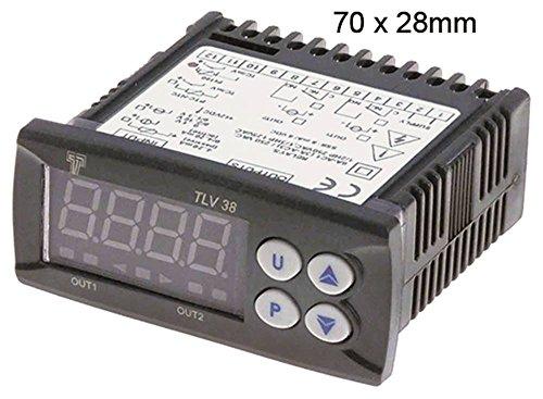 TECNOLOGIC K38VFC-E- Thermometer für Pizzaofen Palux P501, P502, P500 12V AC/DC -200 bis +1760°C für TC (J,K,S)/Pt100 1