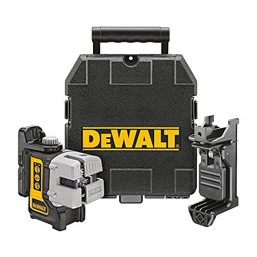 DEWALT Line Laser, Self-Leveling, Red, 3-Beam (DW089K)