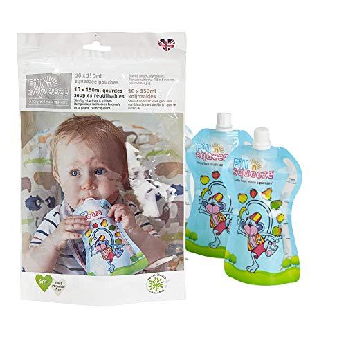 Vul n Squeeze Refill Pack van herbruikbare zakjes voor babys en peuters Pack of 30